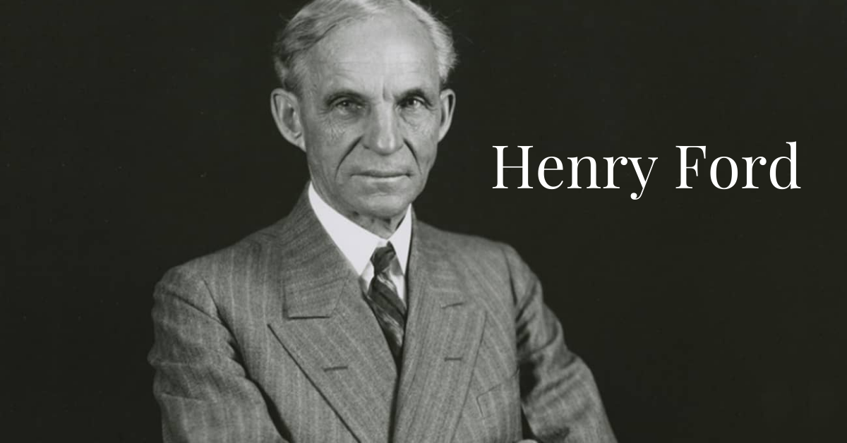 Headshot of Henry Ford - The Founder of Ford Company