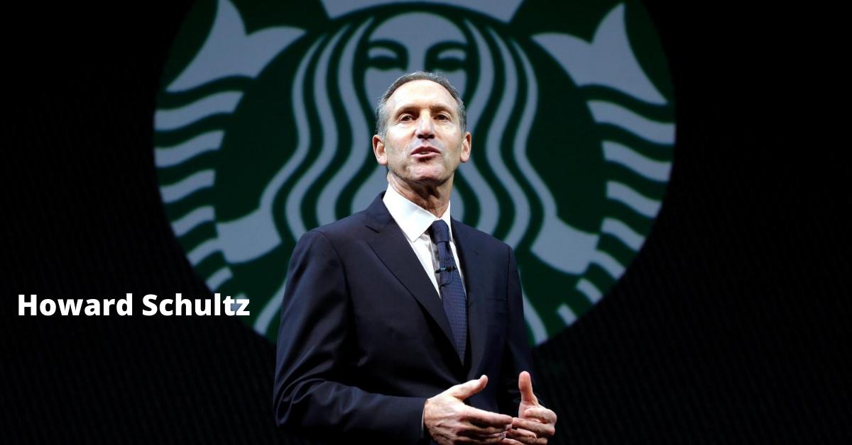 Howard Schultz giving presentation at Starbucks